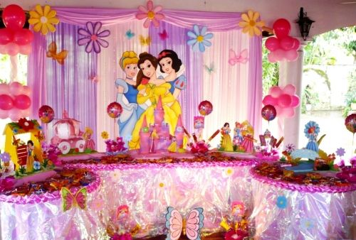 Centros de mesa princesas disney - Decoracion fiesta princesas disney ...