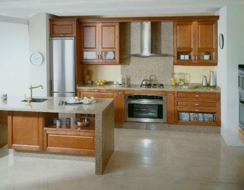 Cocinas modernas madera for Muebles para cocina df