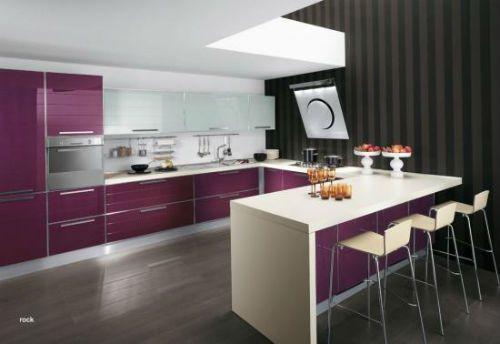 Cocinas modernas moradas - Cocinas con colores vivos ...