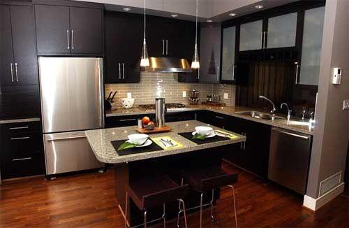 Cocinas modernas pequeñas 2012