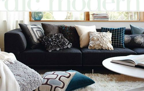 5 ideas sencillas para decorar tu sala blog de ruba - Cojines para sillones ...