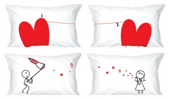 Cojines románticos