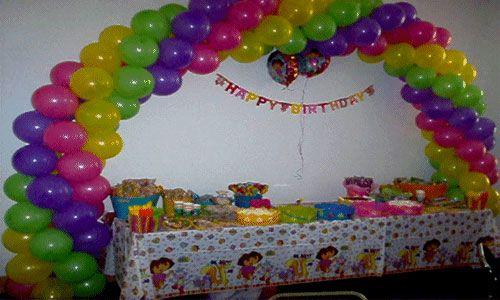 Como decorar un arco con globos - Hacer decoraciones con globos ...