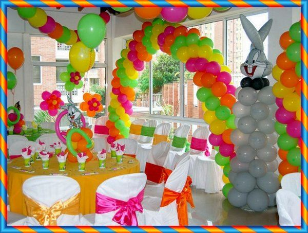 Como decorar una fiesta infantil for Globos decoracion fiestas