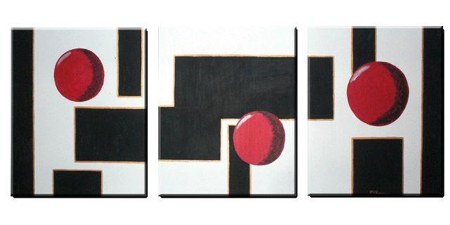 Cuadros abstractos tripticos modernos for Cuadros manualidades modernos