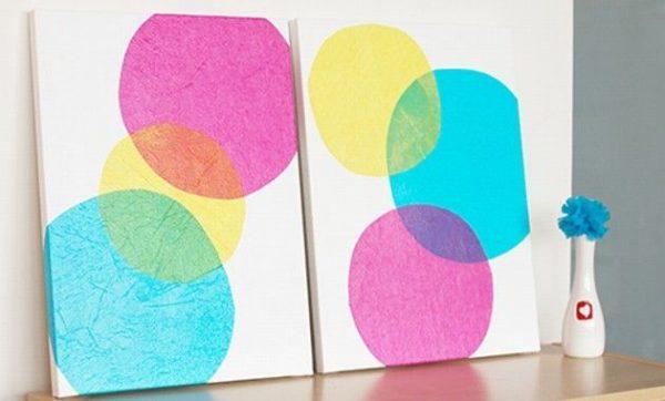 Cuadros manualidades modernos - Como pintar cuadros faciles ...