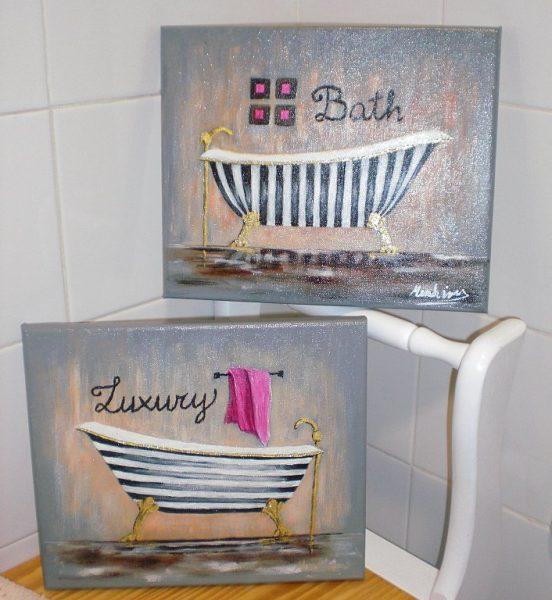 Cuadros para baños modernos