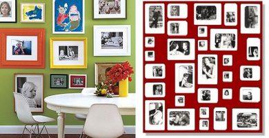 Ideas para decorar una pared con fotos
