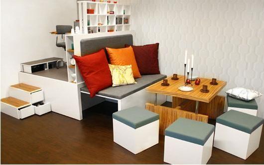 Ideas para decorar una sala peque a - Muebles ahorra espacio ...