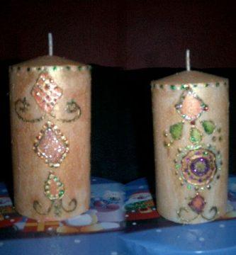 Ideas para decorar velas
