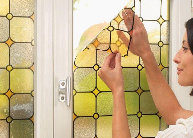 Ideas para decorar ventanas - Decorar cristales de puertas ...