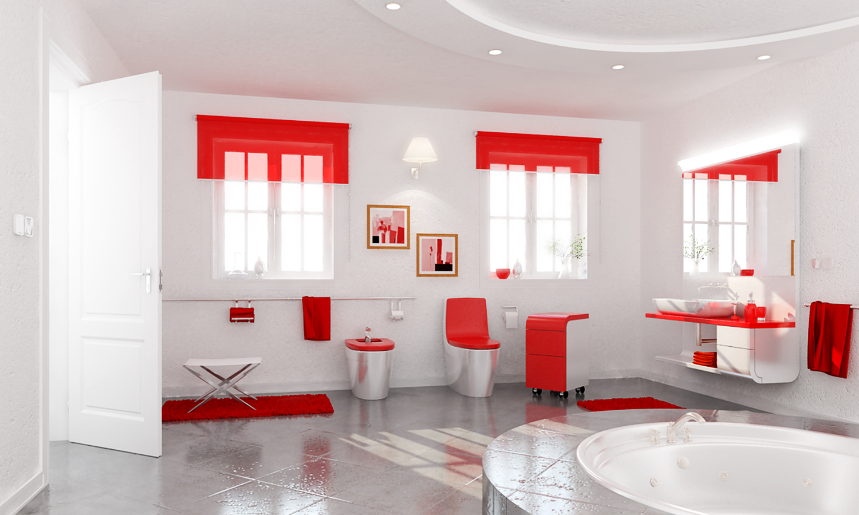 Interiores ba os modernos for Banos interiores para casa