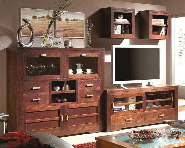 Muebles de madera para la sala for Muebles de sala