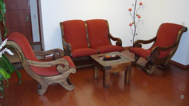 muebles de sala rústicos a pesar de que los muebles de madera que