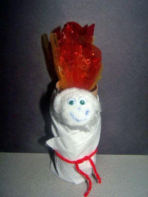 manualidades con rollos de papel higienico para navidad