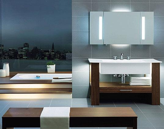 Muebles para ba os peque os modernos for Muebles de madera para banos modernos