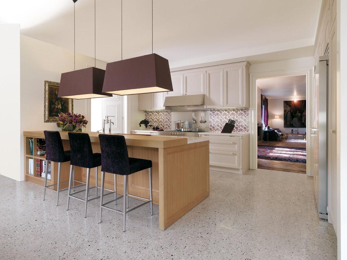 Cocinas integrales modernas para espacios peque os - Mesa de cocina pequena ...