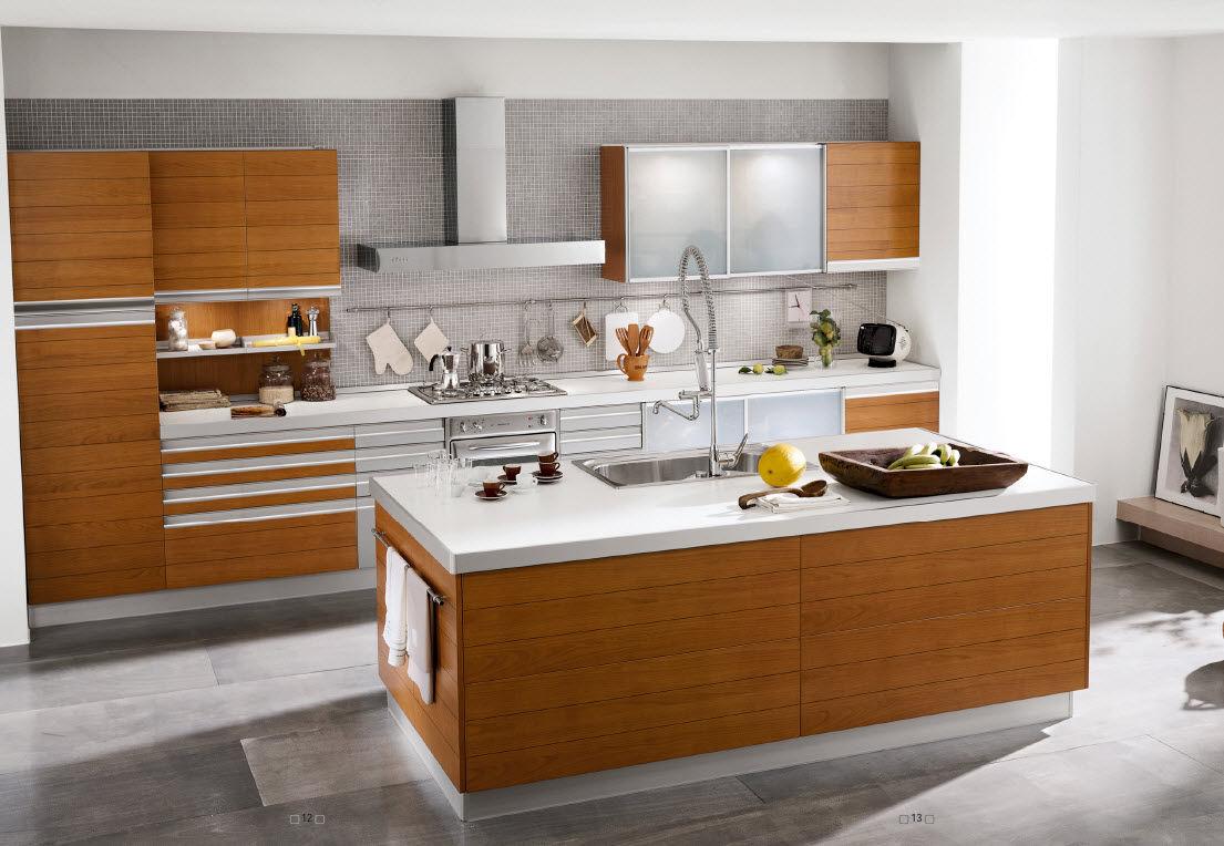 Cocinas integrales modernas para espacios peque os for Muebles comodas modernas
