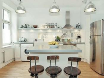 luces y luminarias para la cocina y el dormitorio