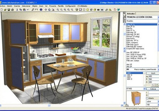 Softwar cad para dise ar cocinas a medida for Software para disenar casas