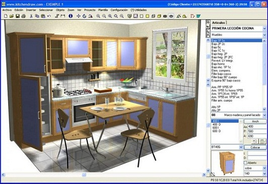 Softwar cad para dise ar cocinas a medida for Disenar muebles a medida