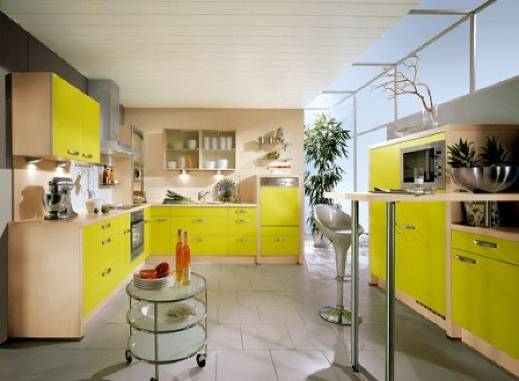 Cocinas de color amarillo - Cocinas de color ...