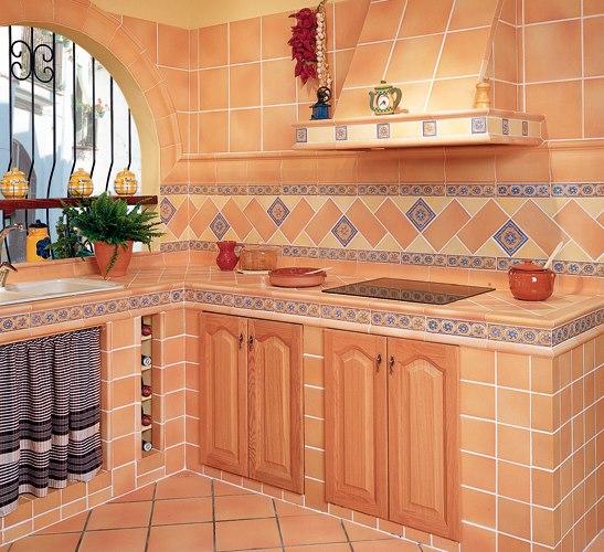 Cocinas rusticas de obra moderna - Cocinas de material rusticas ...