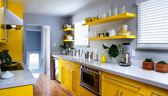 Elegir el color de pintura de la cocina - Pintura pared cocina ...