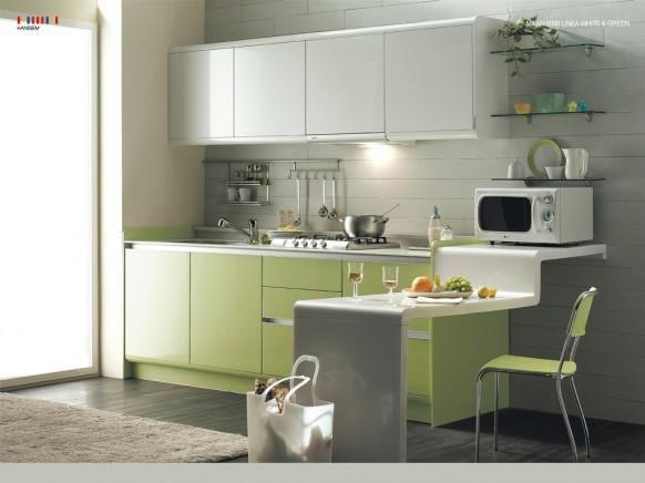 Elegir el color para la cocina - Colores cocinas pequenas ...