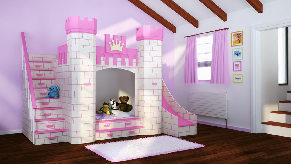 Dormitorios con el estilo princesa - Camas de princesas para nina ...