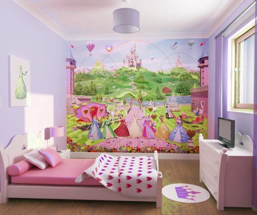 Dormitorios con el estilo princesa - Pinturas habitaciones infantiles ...