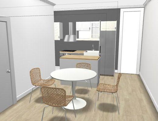 Planificador de cocinas en madera moderna - Planificador de cocinas ...