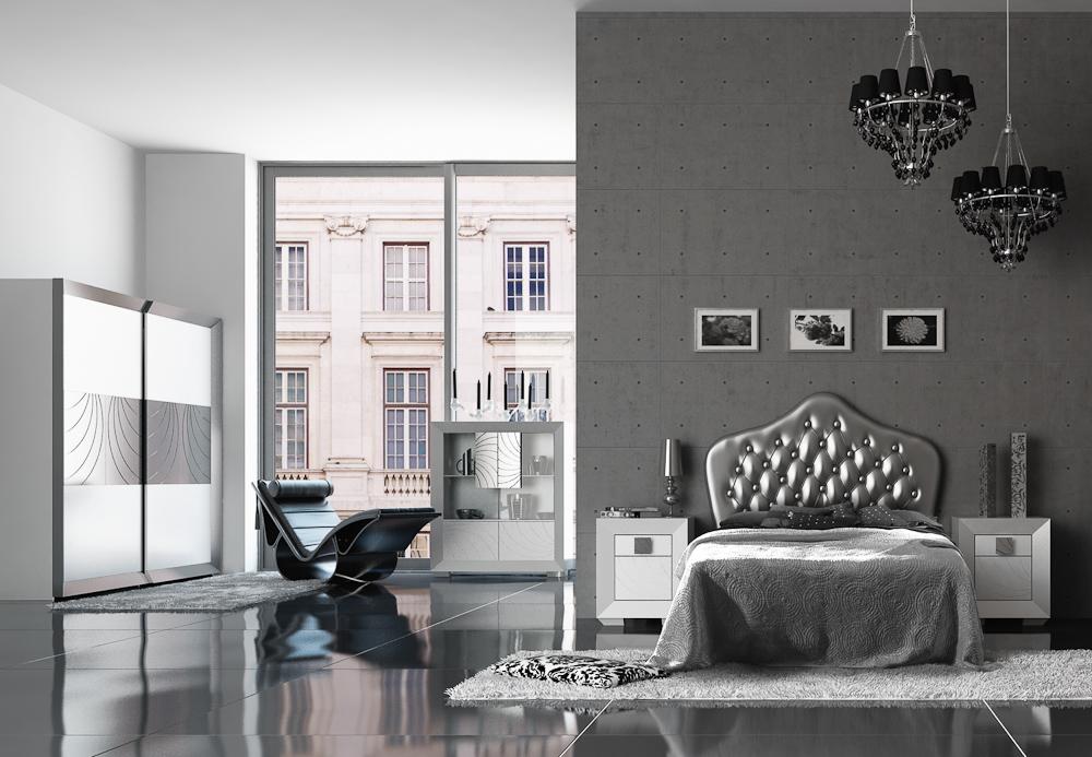Dormitorios plateados for Decoracion dormitorio gris