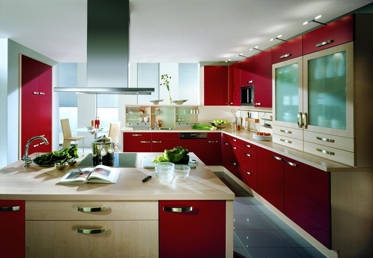 Decoraci n de cocinas rojas - Cocinas de colores ...