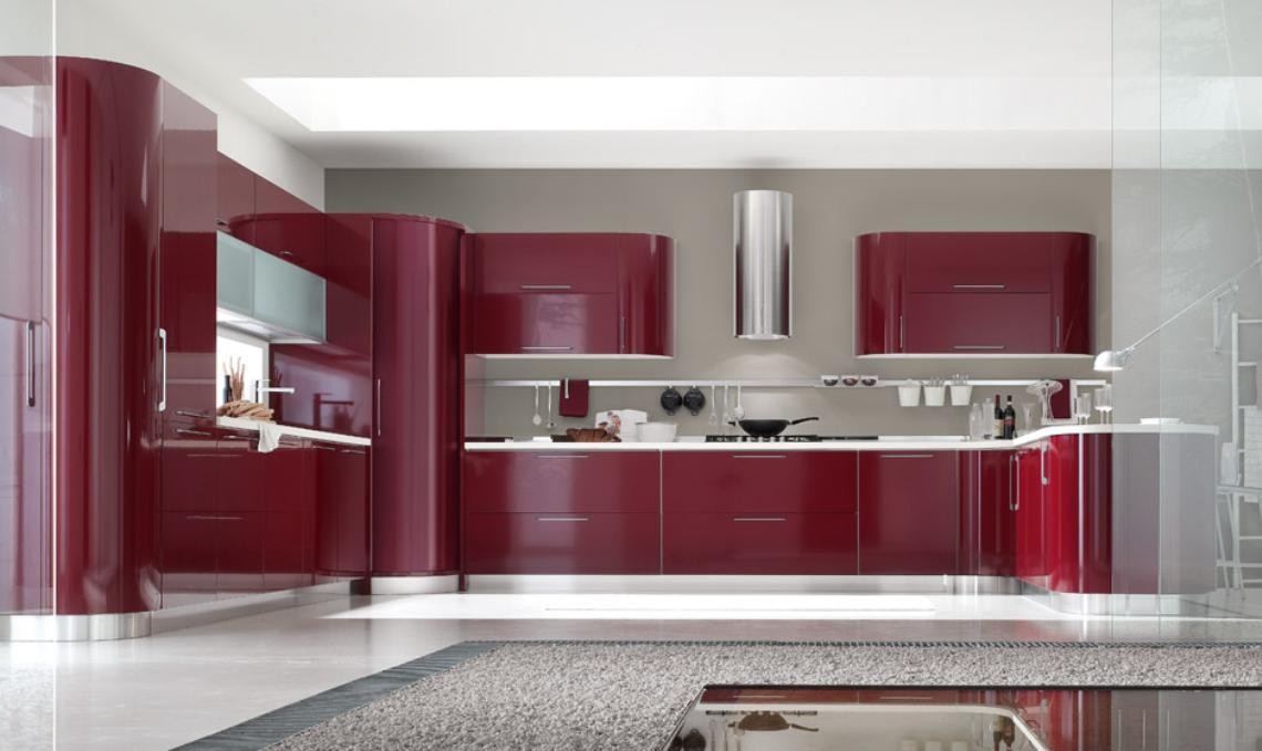Decoraci n de cocinas rojas for Modelos de cocinas modernas americanas