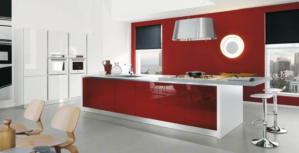 decoraci n de cocinas rojas