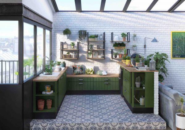 cocina-verde-jardin