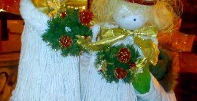 16 Angelitos de navidad manualidades