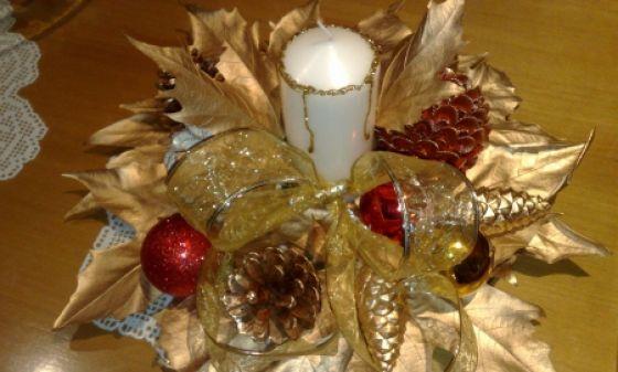 2-Adornos navideños centros de mesa.