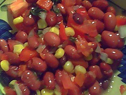 Ensalada de frijoles rojos