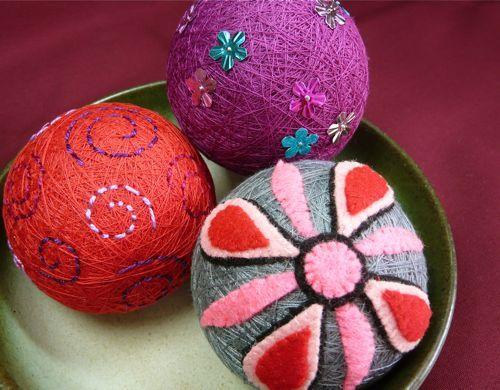 bolas de navidad manualidades