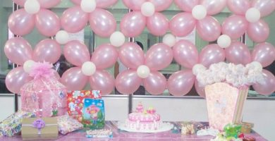 Cómo decorar con globos un saby shower
