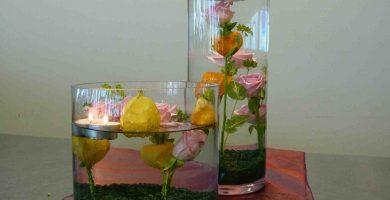 Centros de mesa con agua