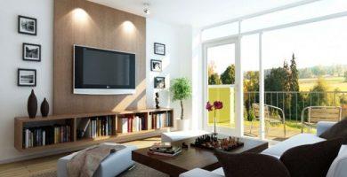 Modelo de decoración de salas