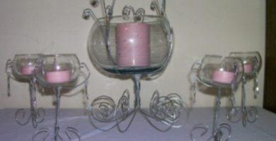 candelabros para centros de mesa