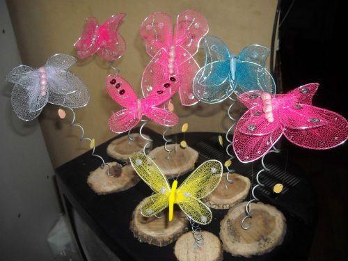 centros de mesa con mariposas