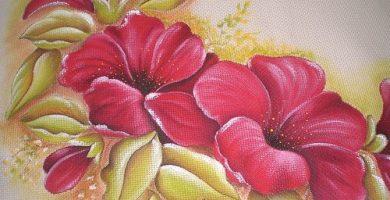 Manualidades con pintura en tela