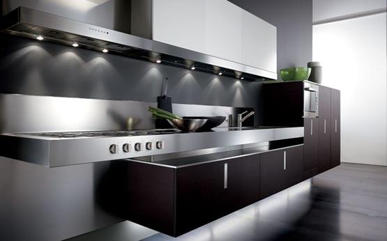 Cocinas integrales contempor neas for Cocina equipada negro y gris