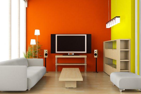 Decoración de interiores de salas pequeñas