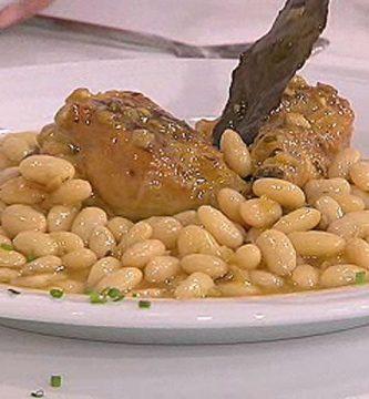 Guiso de pollo habichuelas y judias